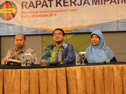 Rapat Kerja MIPAnet, IPB Convention Center, 29 Oktober 2016.
