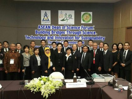 Program Outreach MIPAnet ke Bangkok Menghadiri The ASEAN Dean of Science Forum