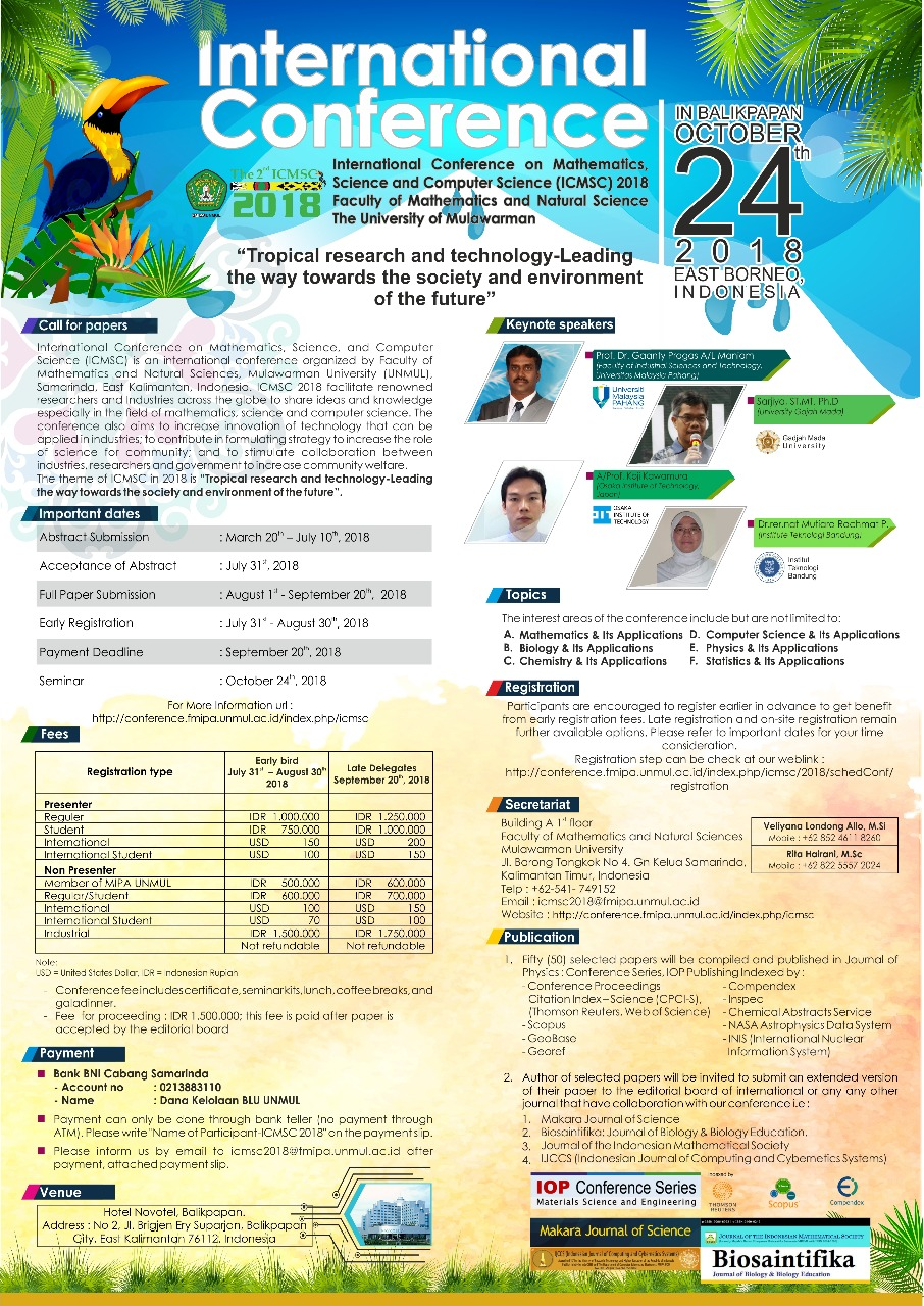 International Conference on Mathematics, Science, and