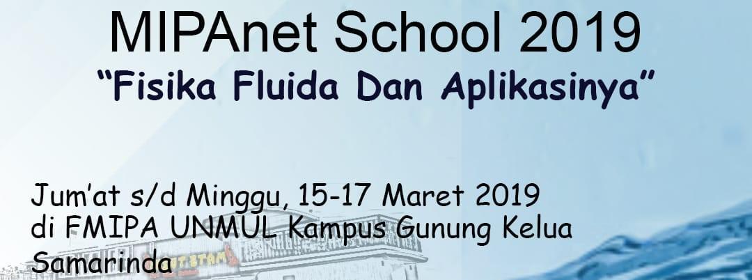 Fisika Fluida dan Aplikasinya, Samarinda, 15 – 17 Maret 2019