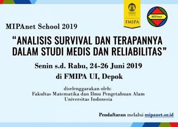 Analisis Survival dan Terapannya dalam Studi Medis dan Reliabilitas, Depok, 24 – 26 Juni 2019