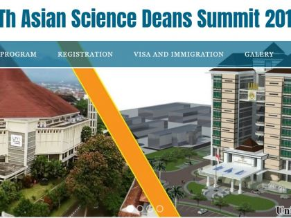 5Th Asian Science Deans Summit 2019, Malang, Indonesia, 9-11, July 2019
