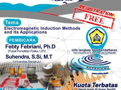 ELECTROMAGNETIC INDUCATION METHODS AND ITS APPLICATIONS, BENGKULU, 20 – 24 AGUSTUS 2019