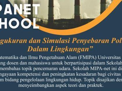 Pengukuran dan Simulasi Penyebaran Polutan dalam Lingkungan, Makassar, 11 – 13 November 2019